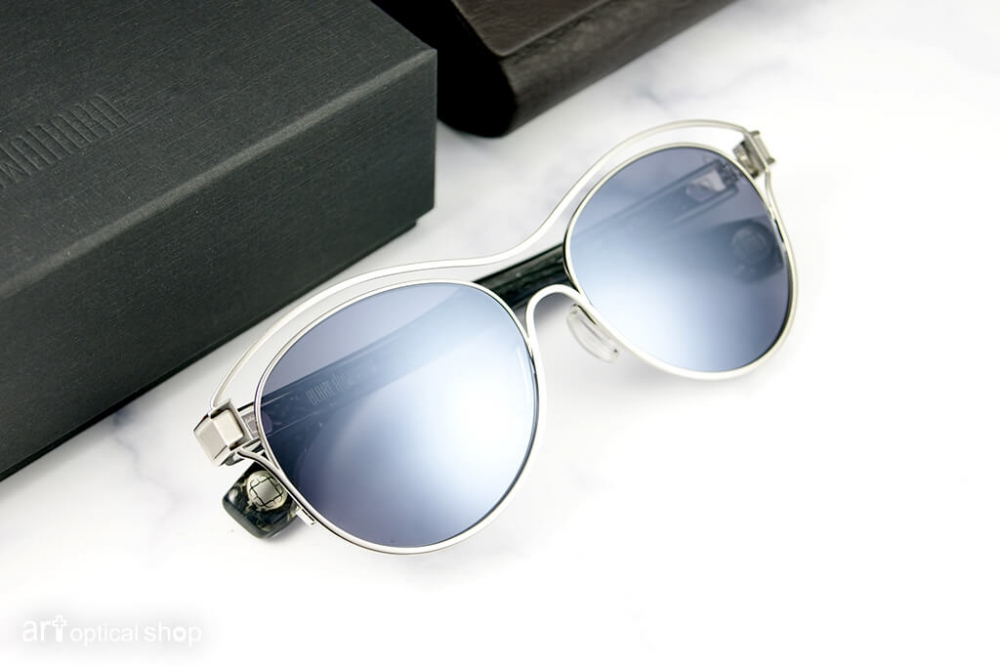BLAKE KUWAHARA - KLEE - 立體框中框太陽眼鏡 - 奇幻銀