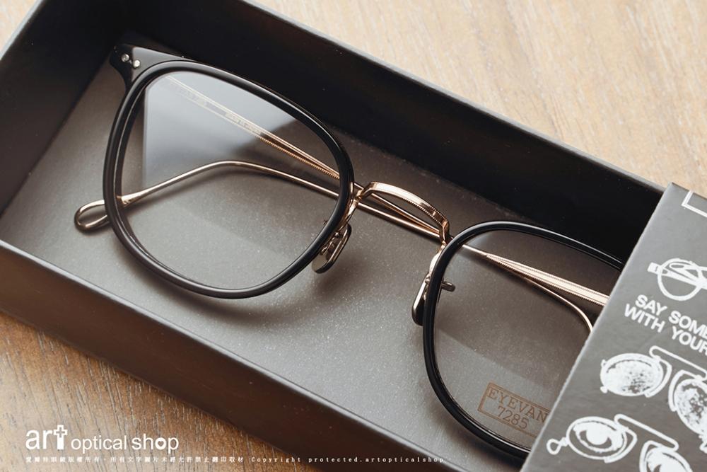 EYEVAN 7285 - 558 C1002 - 黑金配色復古方框