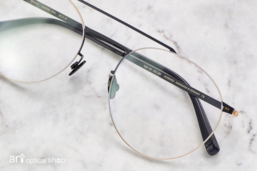 MYKITA-LESSRIM-RYO-黑金色極細邊圓框眼鏡