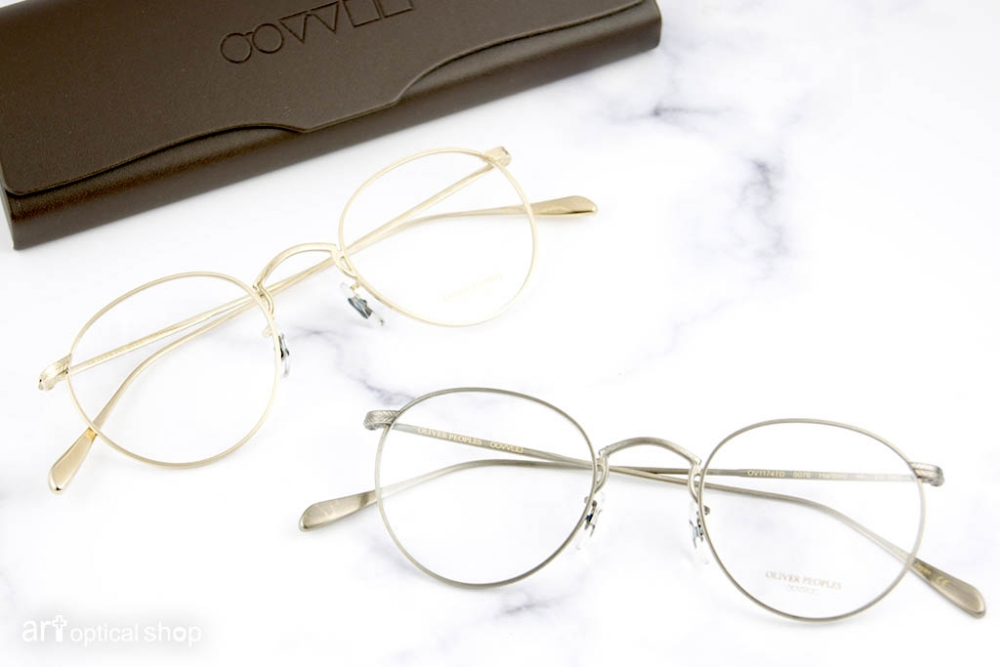 OLIVER PEOPLES - HARTFORD 金屬細圓框鏡架