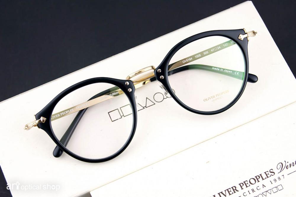 OLIVER PEOPLES - 經典505『雅』日手製作限量復刻版 - 黑金色
