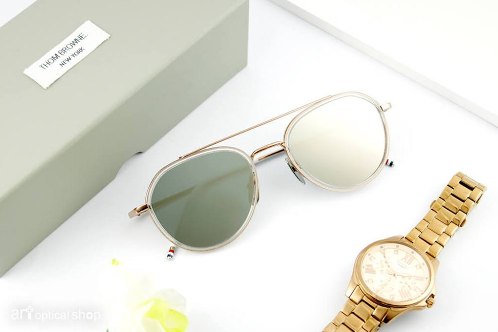THOM BROWNE - TB-801 - 早春款 玫瑰金太陽眼鏡