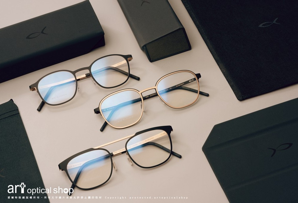 BLACKFIN NEWPORT FORTWAYNE JACKSONVILLE 時尚鈦金屬黑金雙色眼鏡