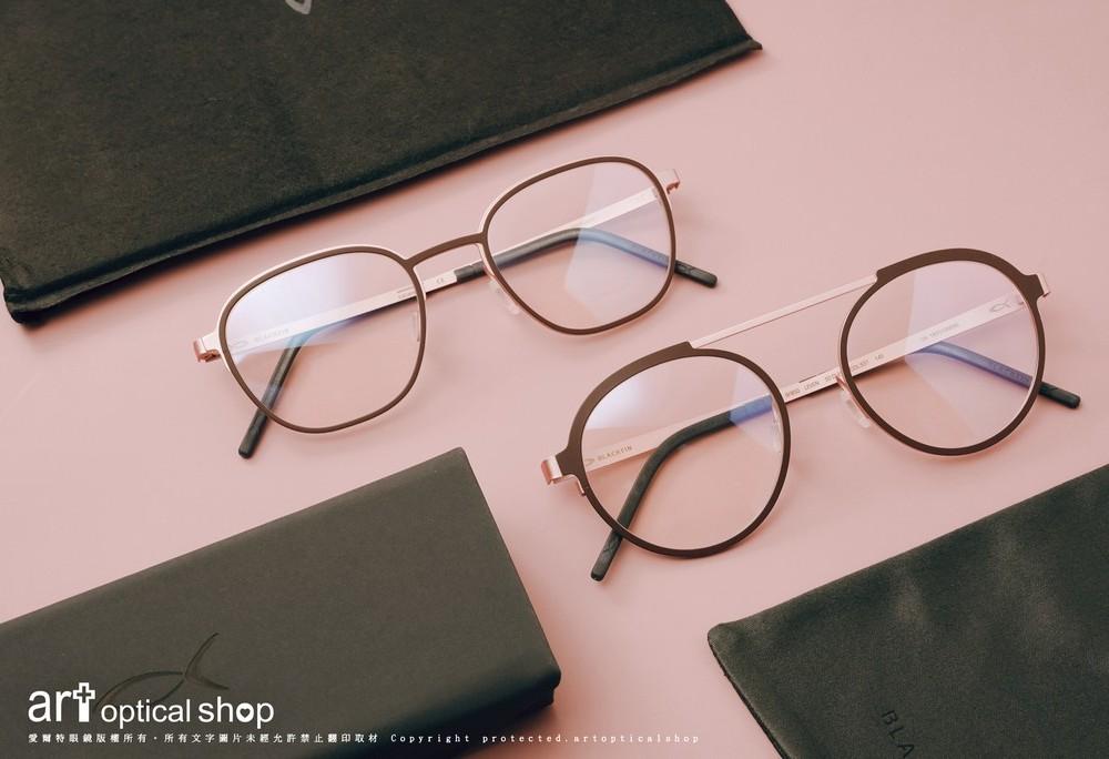 BLACKFIN LEVEN & ACKSONVILLE-時尚鈦金屬緋紅雙色眼鏡