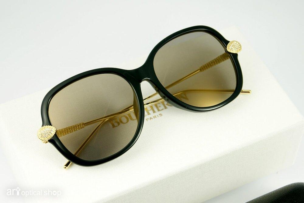BOUCHERON - 大方圓框 女性太陽眼鏡 - BC0032 SA