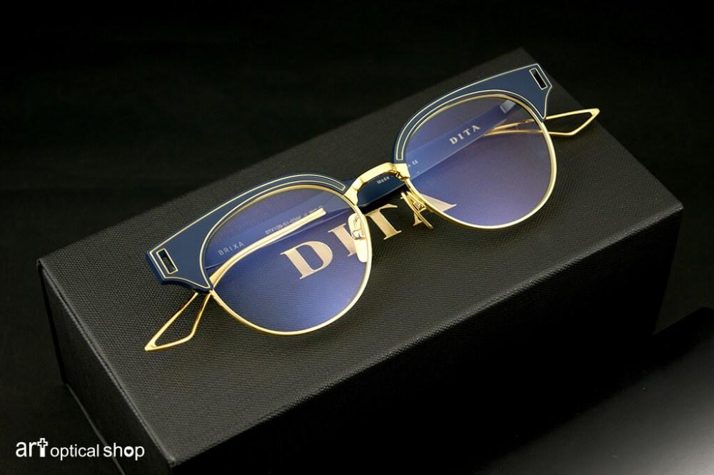 DITA - BRIXA - 海軍藍金框復古鏡架 亞洲版 - DTX 109 - ASIAN FIT