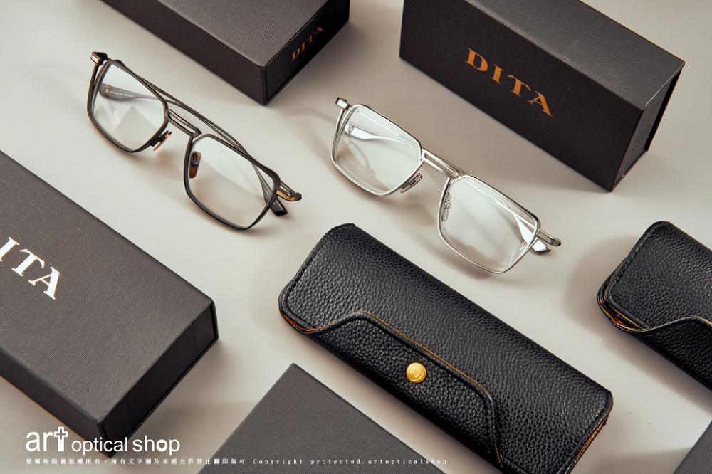 DITA - LINDSTRUM - 工業風鈦絲鏡框 - DTX125 紳士黑&優雅銀