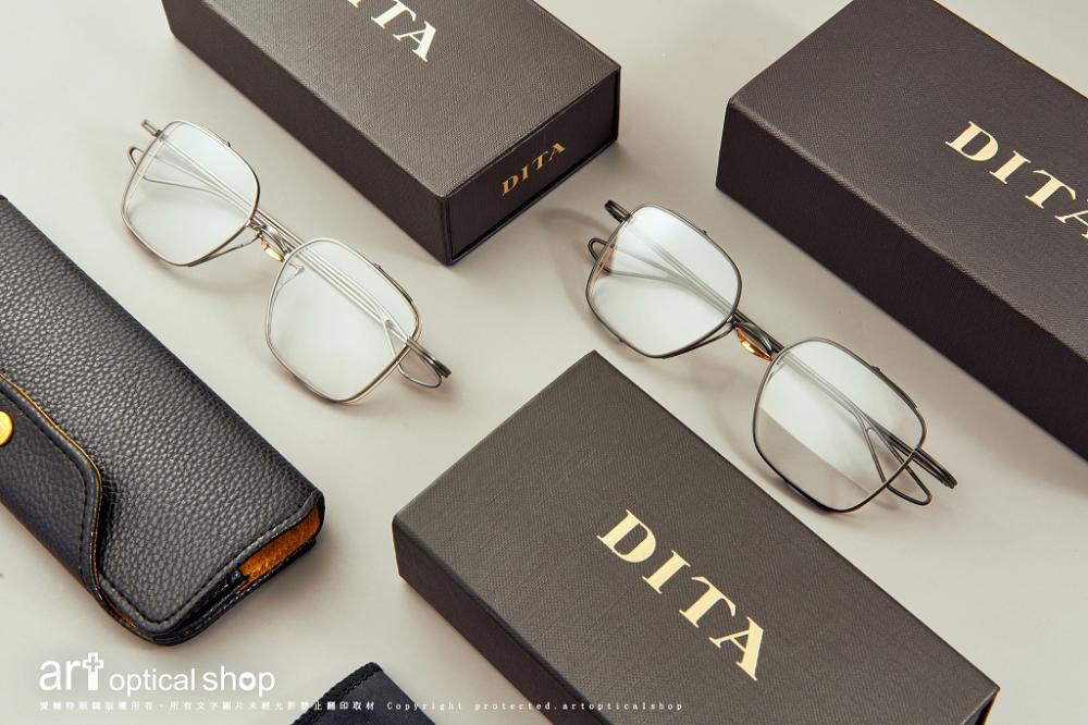 DITA - Lineto - 機械感雙鏡橋鈦絲方框 - DTX124