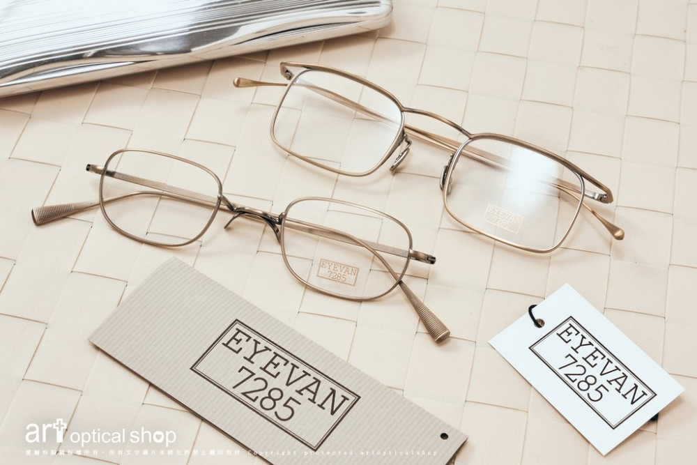 EYEVAN 7285 165 168 復古文青鈦金屬金絲鏡框