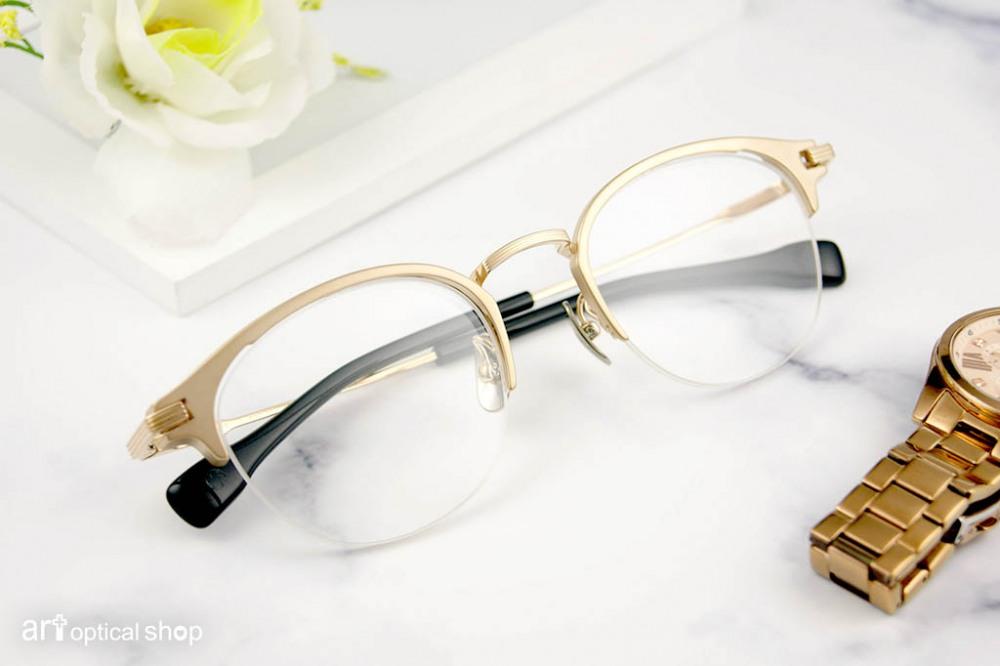 FOUR NINES - S-351T-1 白金色半框眼鏡