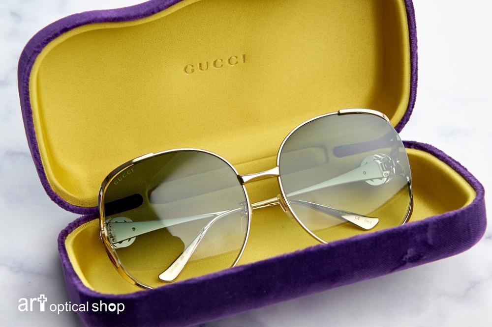 Gucci-GG-0225S-004 圓形鏡框金屬太陽眼鏡