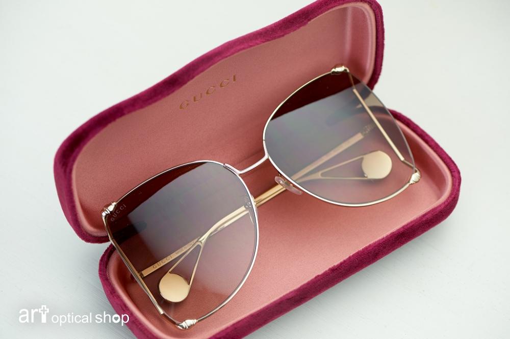 GUCCI-GG0252S 雙D超大框蝴蝶型太陽眼鏡-孫芸芸同款-共有四色