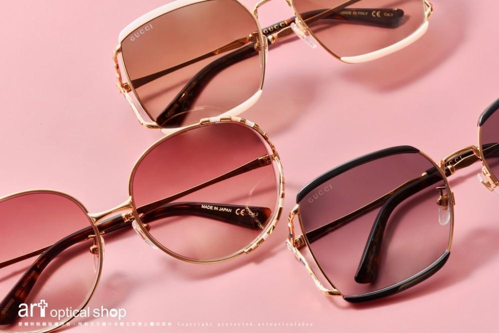 GUCCI-GG0593SK-GG0595SK-竹節造型琺瑯太陽眼鏡