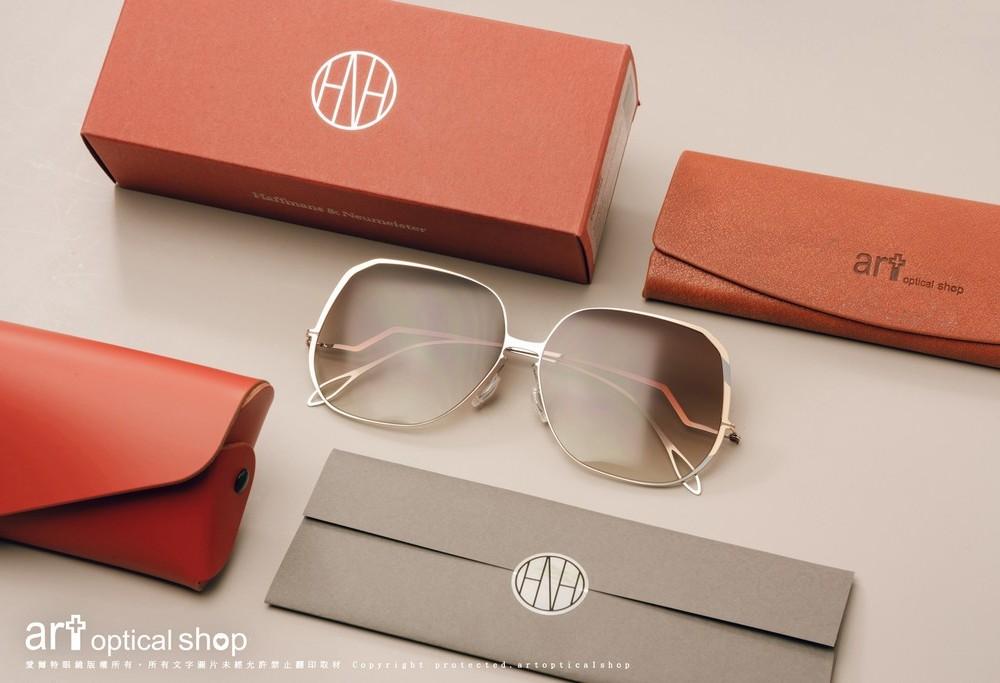 Haffmans & Neumeister Felicity col035-復古大框薄鋼太陽眼鏡
