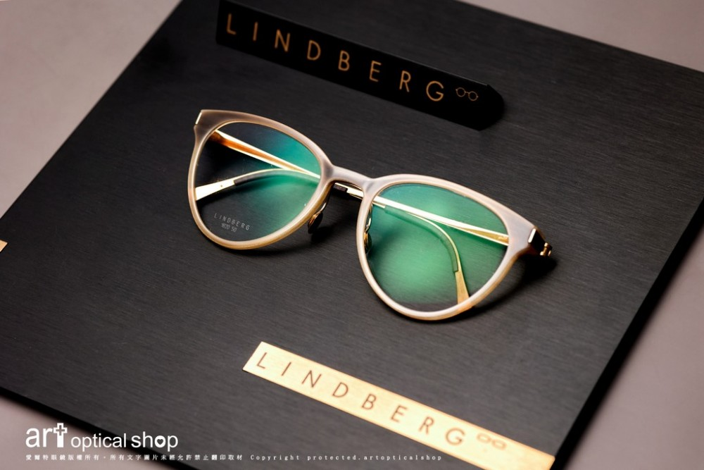 LINDBERG Precious 1820 18K金貴金屬牛角貓眼鏡框
