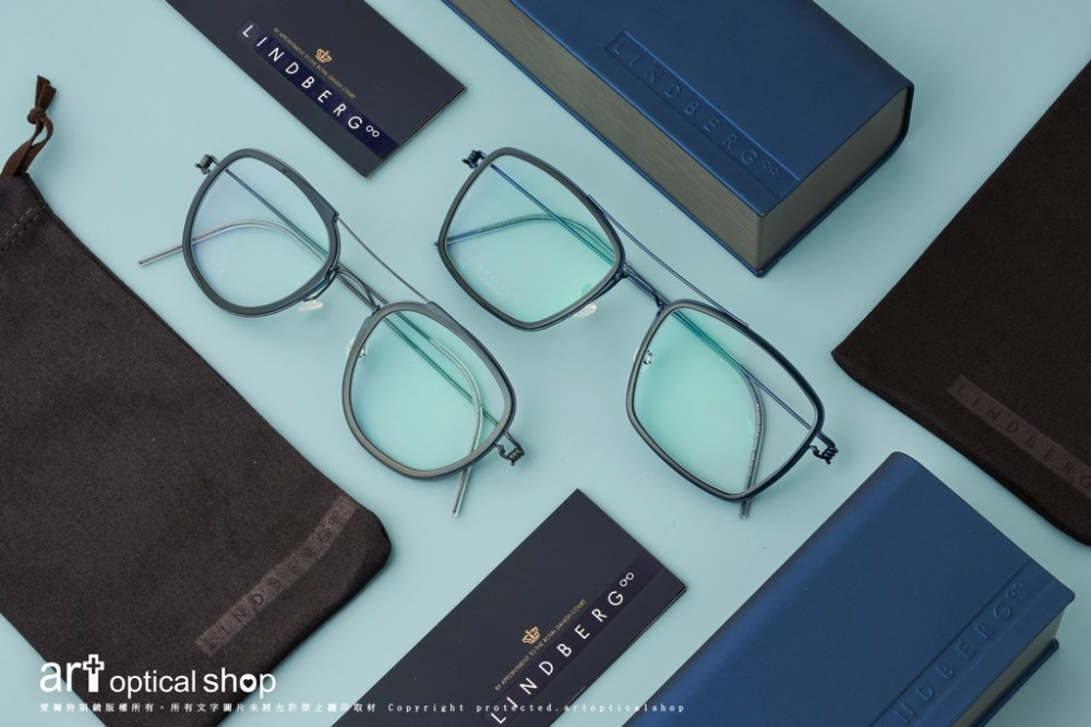 LINDBERG Air Titanium WILLIAM and OSCAR 鈦金屬雙槓飛行員款式鏡框
