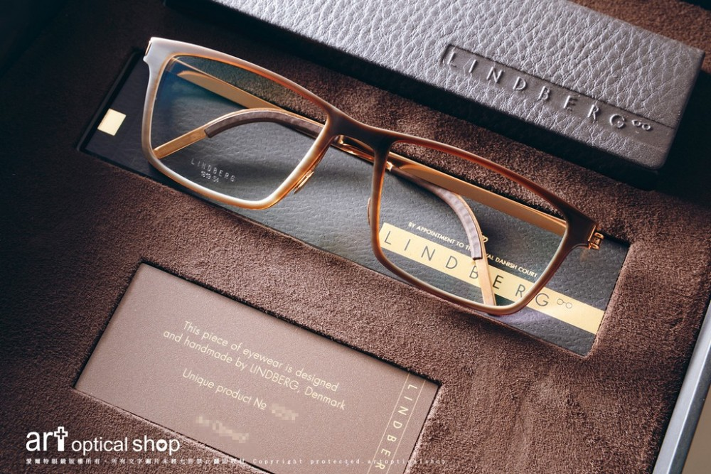 LINDBERG  - 1819 鈦金屬牛角眼鏡