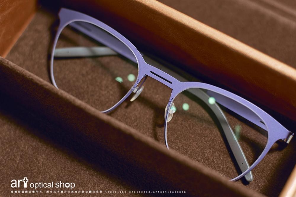Markus T-T3-343-紫色純鈦經典鏡框