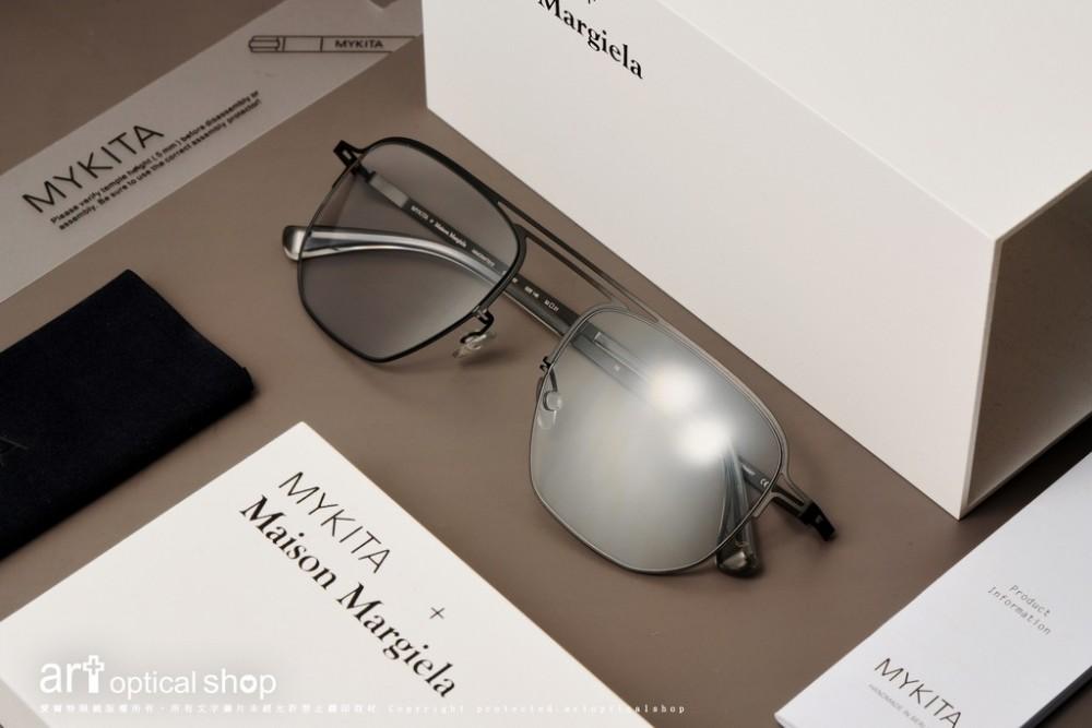 MYKITA + MAISON MARGIELA MMCRAFT013 雙鏡橋薄鋼飛行員太陽眼鏡