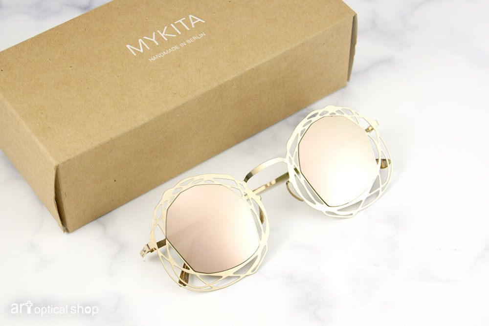 MYKITA - DAMIR DOMA - NITA - 不規則圓框 香檳金太陽眼鏡