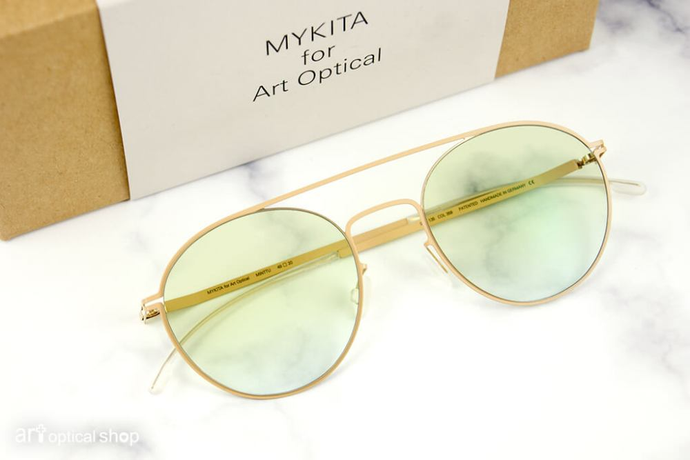 MYKITA for ARToptical - 限量聯名款 - LITE STEEN - 金框半透明鏡片圓框太陽眼鏡