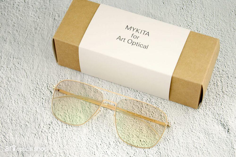 MYKITA for ARToptical - 限量聯名款 - LITE STEEN - 金框半透明鏡片飛行員造型太陽眼鏡