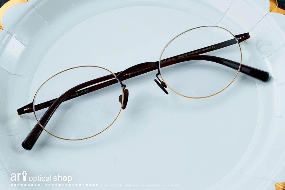 MYKITA-LESSRIM- NAOKO- 極細黑金超輕量橢圓框眼鏡