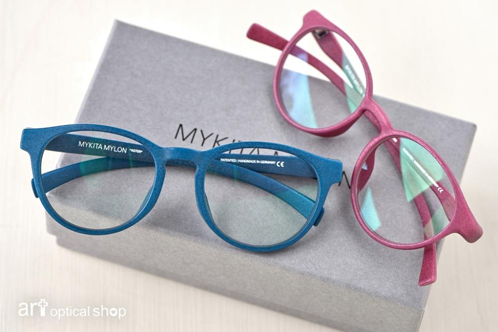 MYKITA MYLON-3D Print 圓框眼鏡 ASTER(藍)-LUXON(紅)