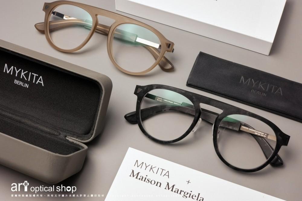 MYKITA + Maison Margiela MMRAW016 褐/黑雕刻感手工複合材質鏡框
