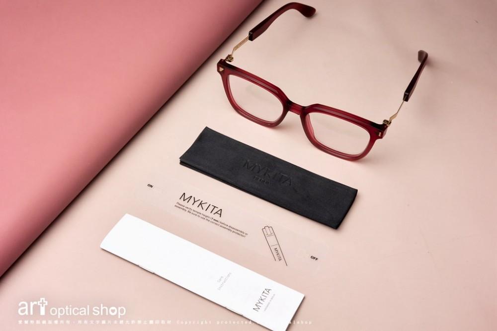 MYKITA + Maison Margiela MMRAW009 緋紅雕刻感手工複合材質鏡框MYKITA+MaisonMargiela-MMRAW009