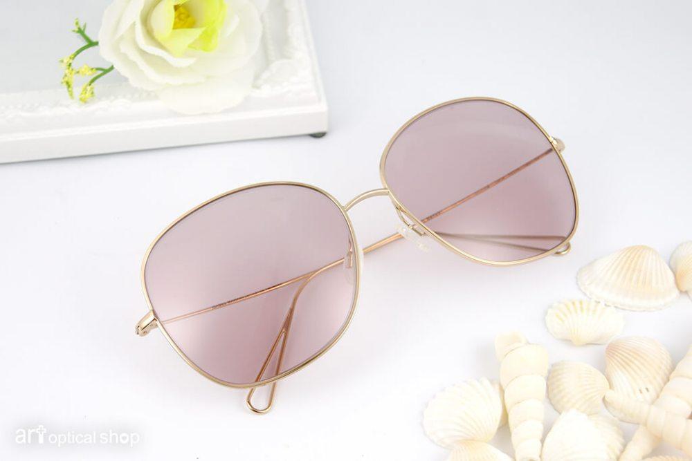 OLIVER PEOPLES par ISABEL MARANT - 超大鏡面水滴型金邊太陽眼鏡 - 浪漫玫瑰色