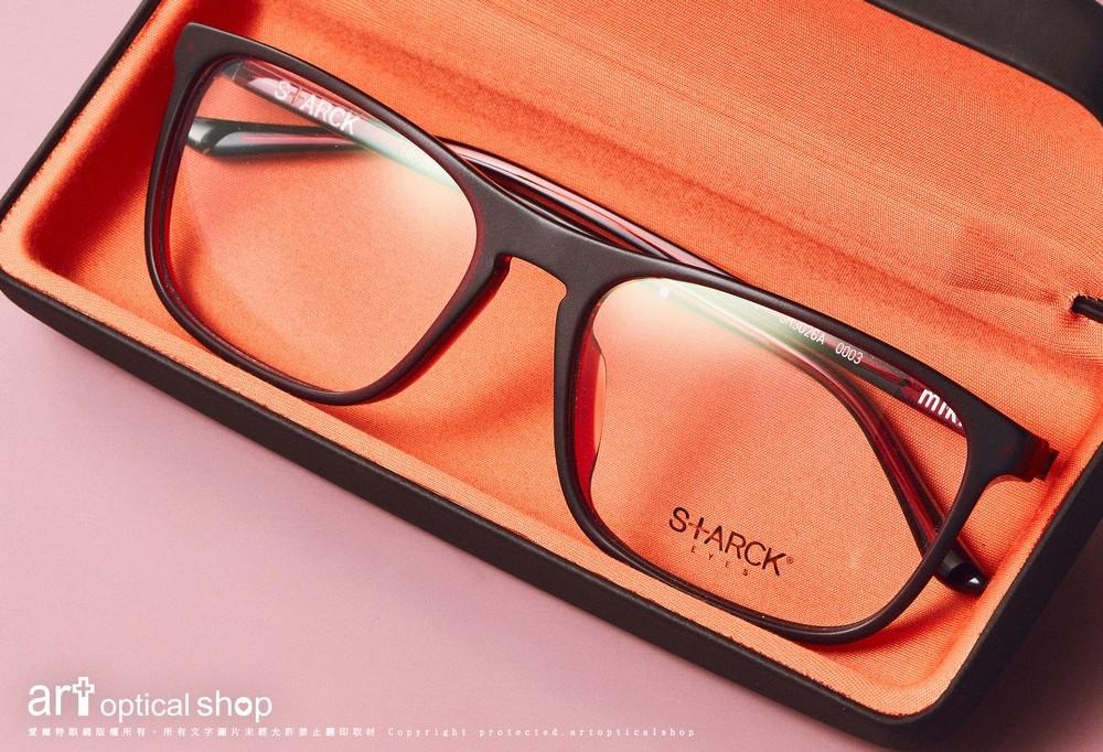 STARCK BIOCITY SH3026A緋紅板料方框眼鏡