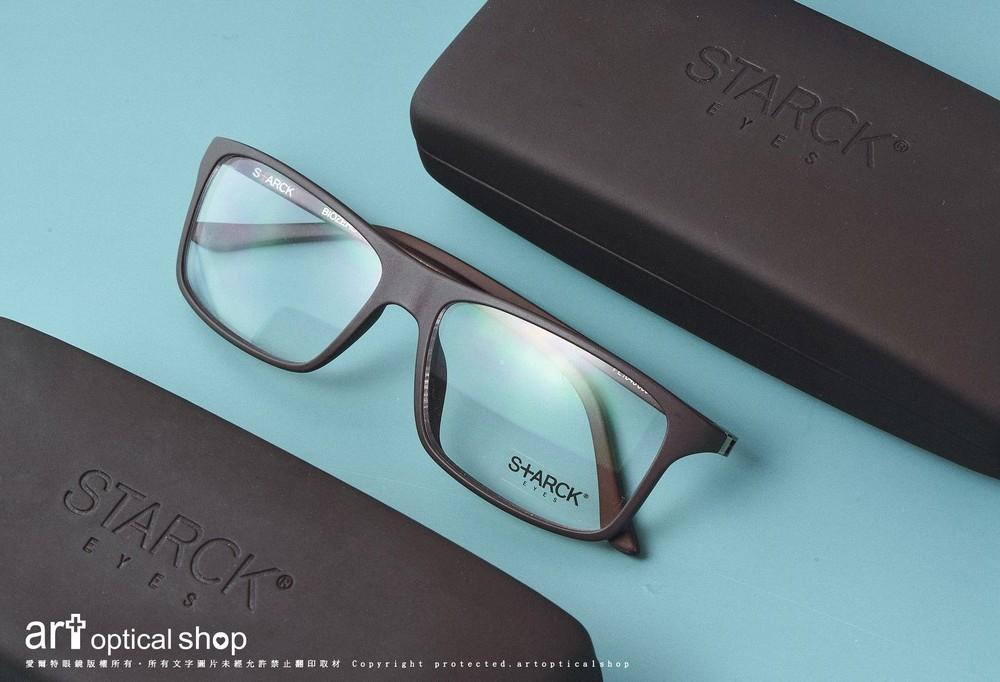 STARCK BIOZERO PL1043 極黑霧面方框眼鏡