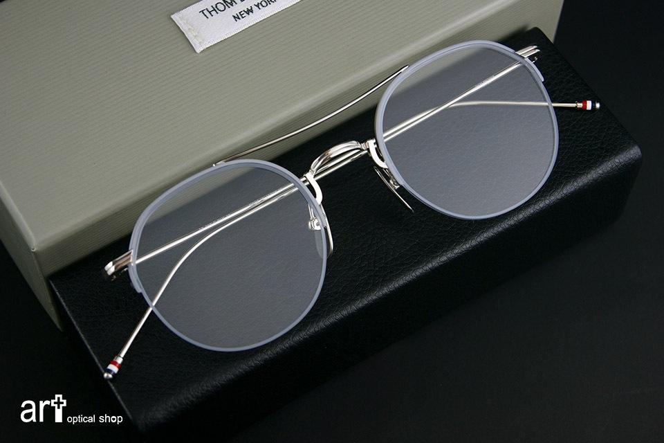 THOM BROWNE - TB 903 - 銀色半框細邊鏡款